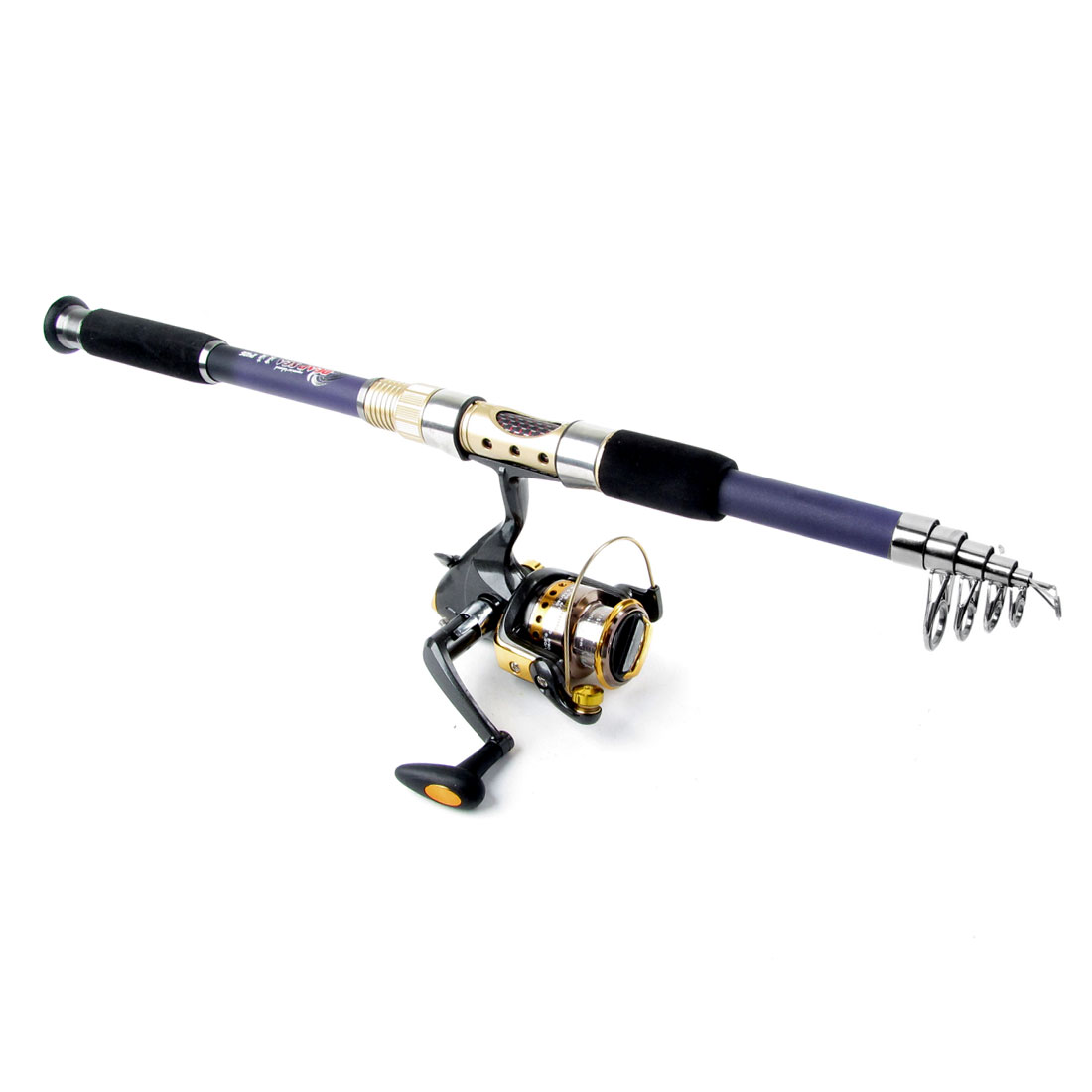 Telescopic 6 Sections 2.3M Fishing Rod Pole + Gear Ratio 5.1 : 1 Spinning Reel