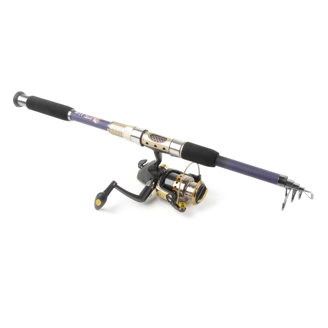 Telescopic 5 Sections 2.1M Fishing Rod Pole + Gear Ratio 5.1 : 1 Spinning Reel