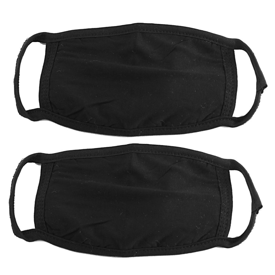 2 Pcs Cotton Blend Anti Dust Face Mouth Mask Black for Man Woman