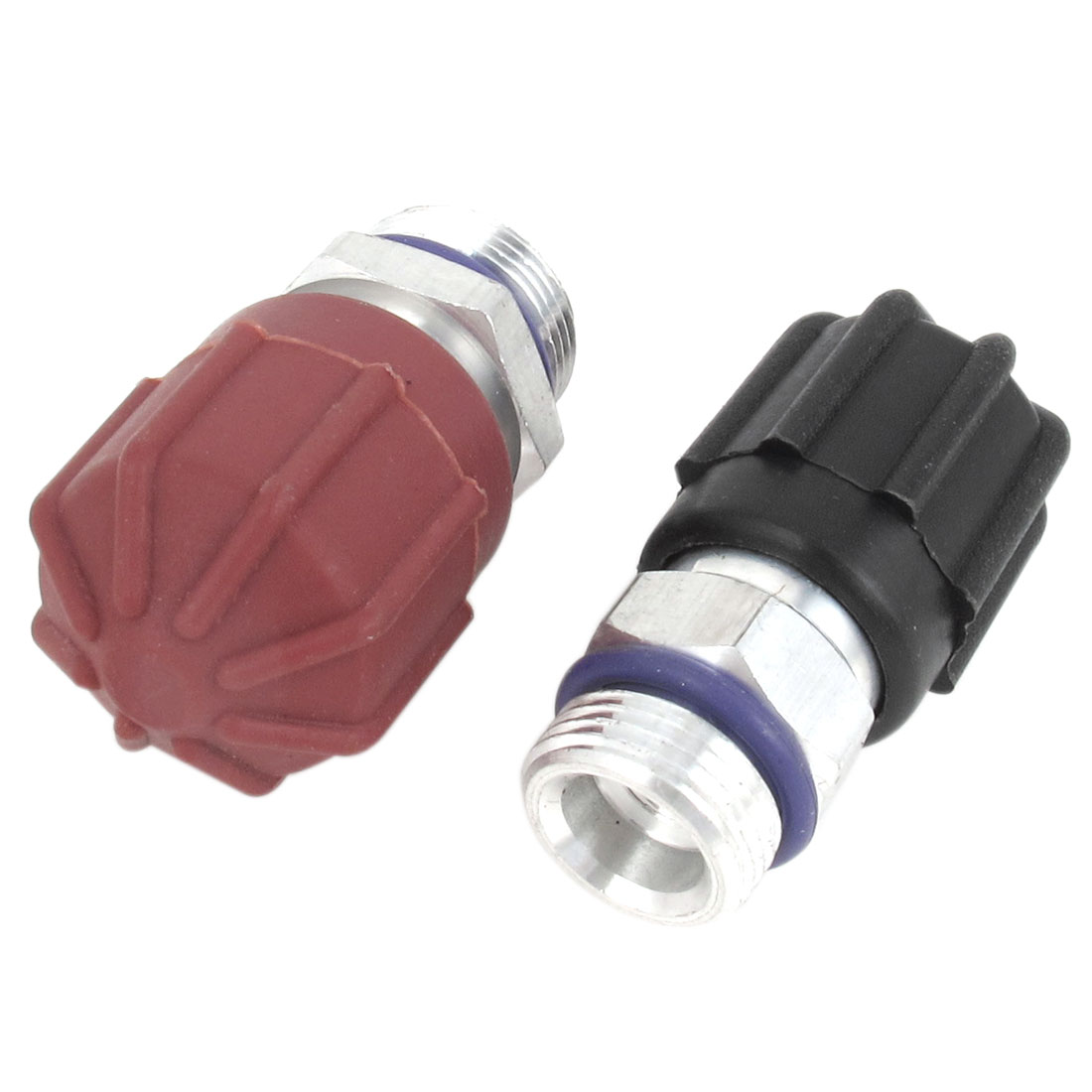 2pcs Auto Car A/C Installation Low Side UNF R134a Fitting Adapter