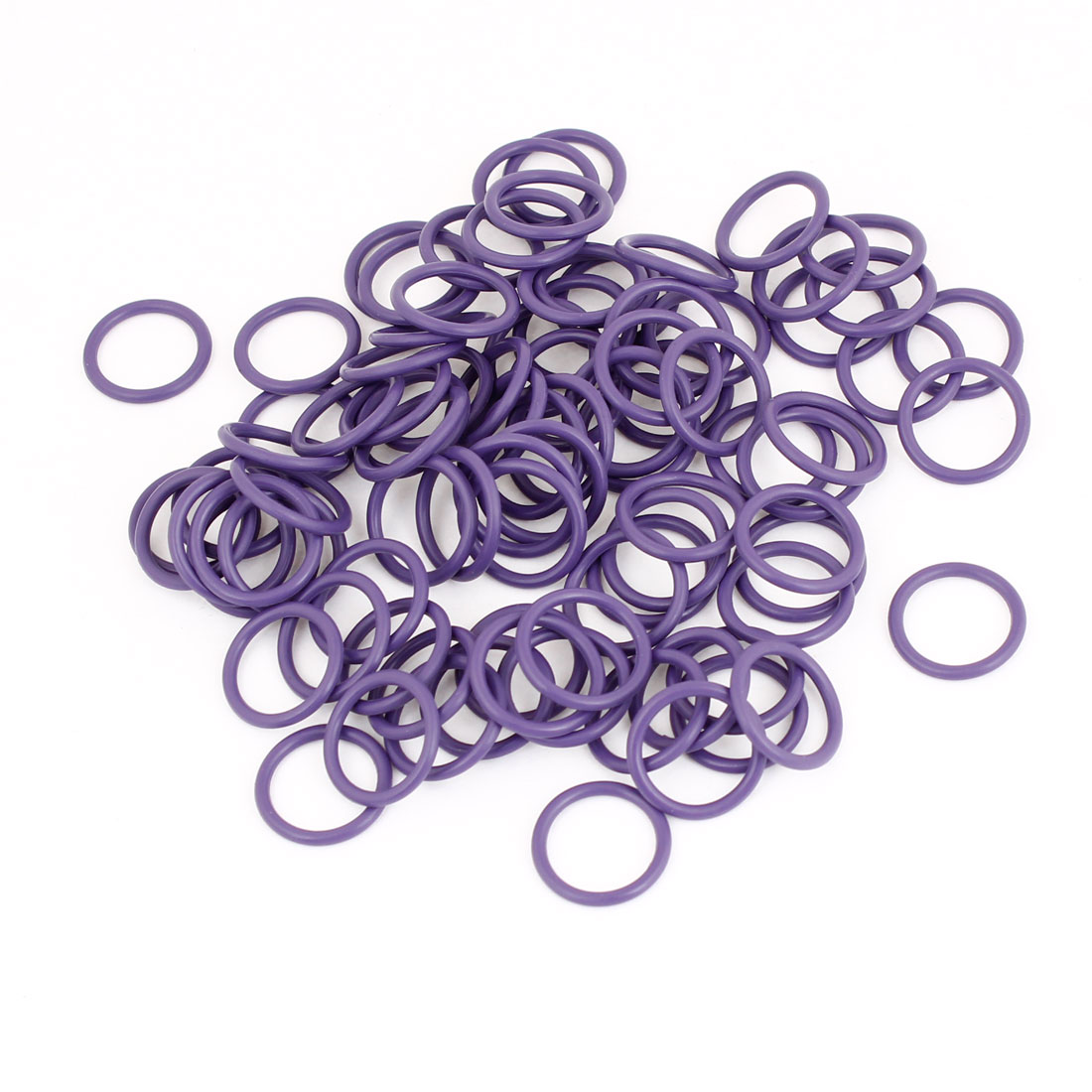 100pcs HNBR Car Truck Van Air Con A/C Purple Seal O Ring 15.7 x 13.3 x 1.7mm