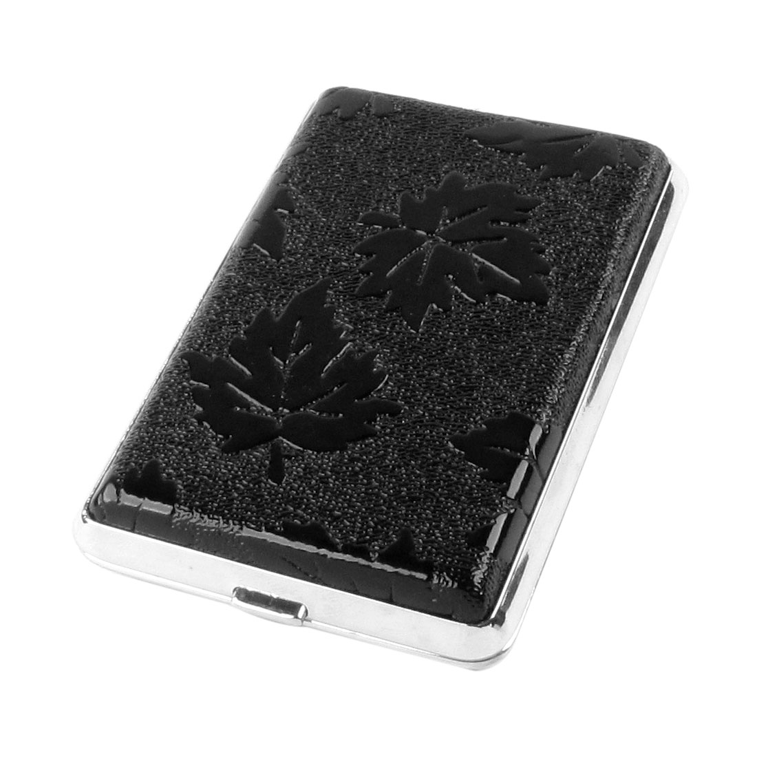 Gentleman Maple Leaf Print Rectangle Aluminum Cigarettes Tobacco Case Container
