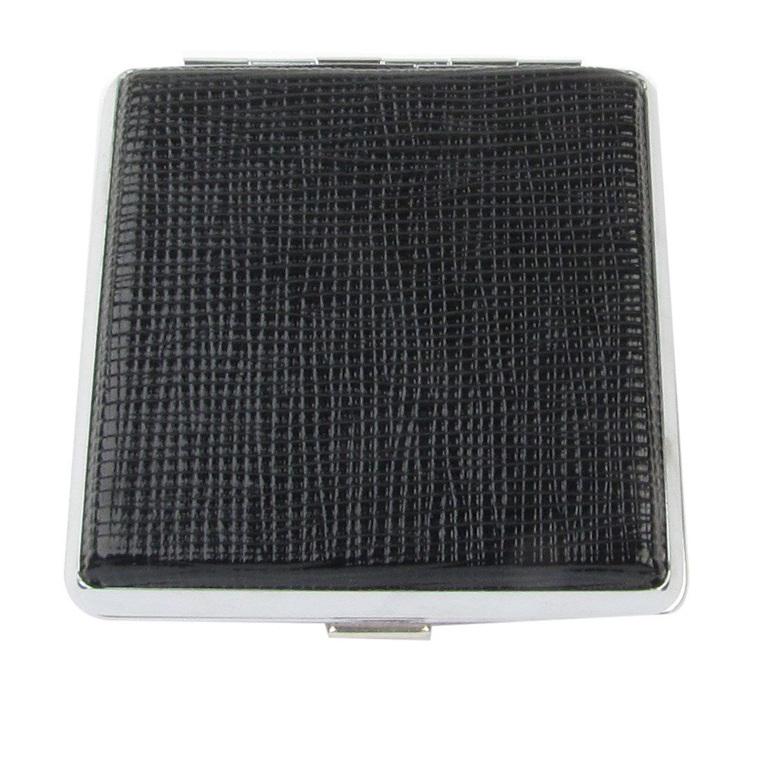 Gentleman Stripe Printed Black Faux Leather Metal Cigarettes Tobacco Box Case