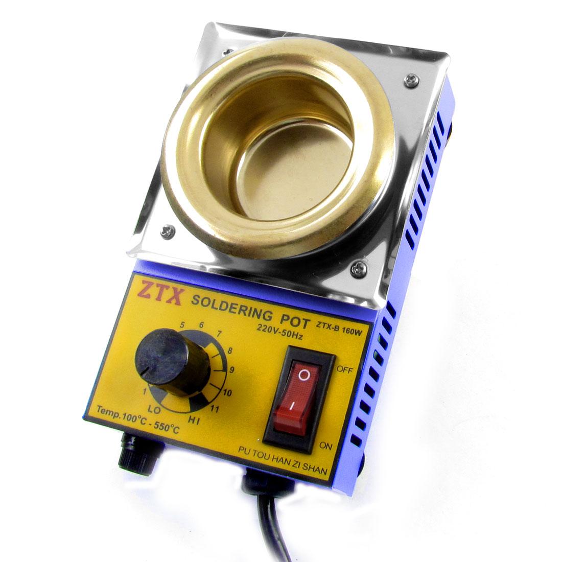 AU Plug AC 220V 160W Round Solder Pot Soldering Desoldering Bath