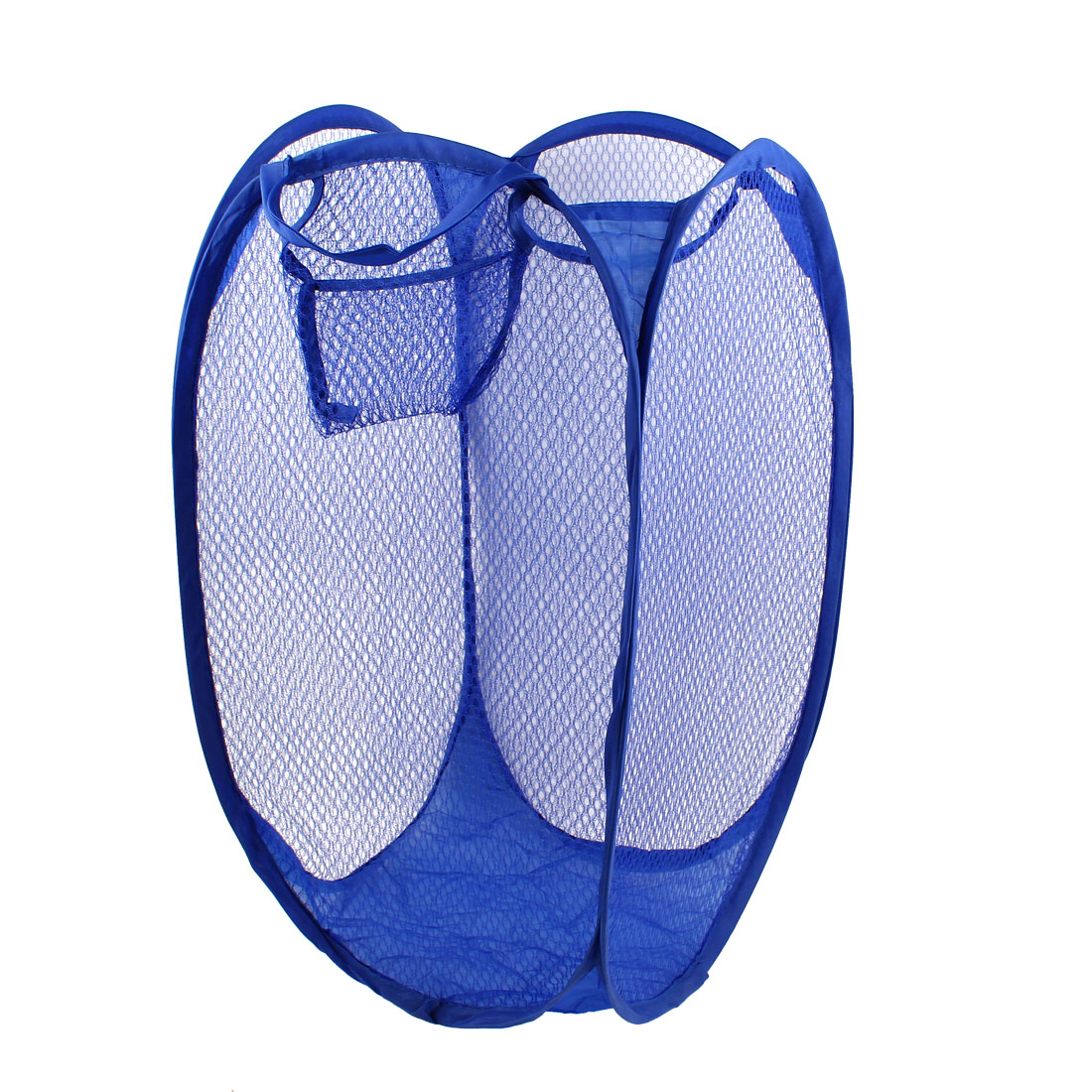 Foldable Maya Blue Meshy Laundry Basket Hamper Rectangular Clothes Storage