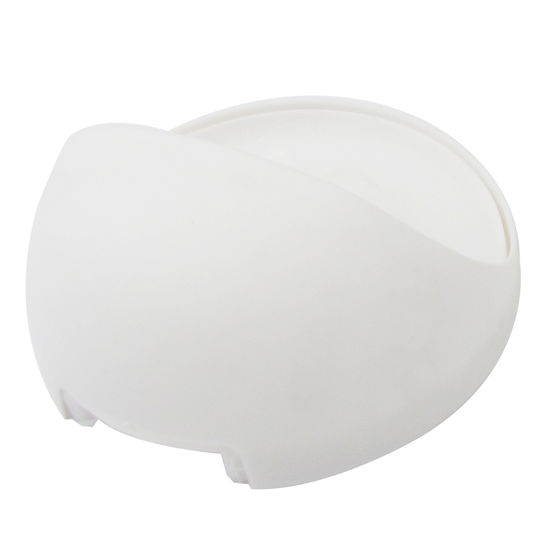 Bathroom Round Design White Plastic Soap Holder Case Box Container