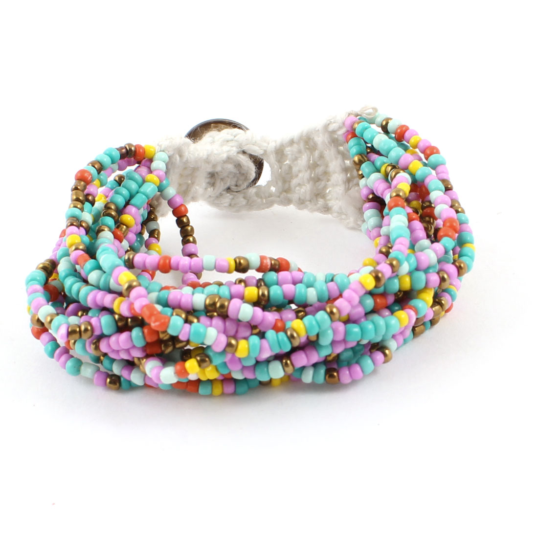 Lady Bohemian Style Assorted Color Multilayer Weave String Beaded Bracelet