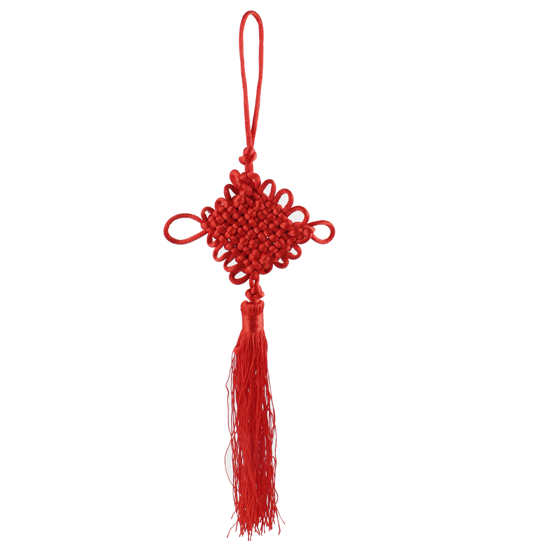 Red Handcraft Knitted Chinese Traditional Decoration Knot Tassel