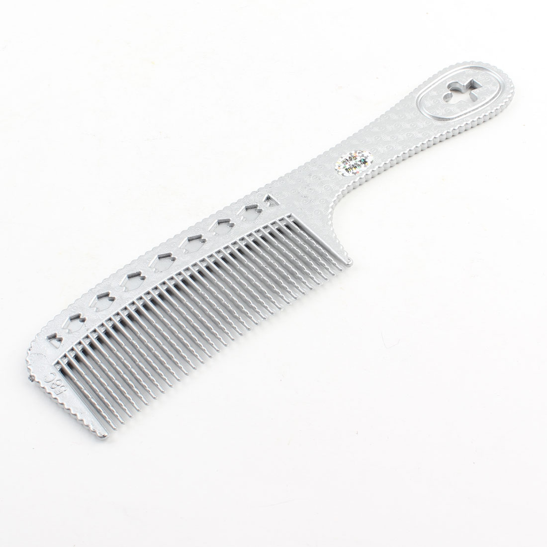 "Hairdressing Wide Teeth Anti-static Silver Tone Hair Comb 7.8"" Length"