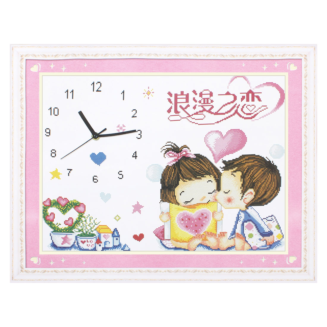 Digital Time Sweetheart Friend Printed Stamped Cross Stitch Counted Kit for Lady