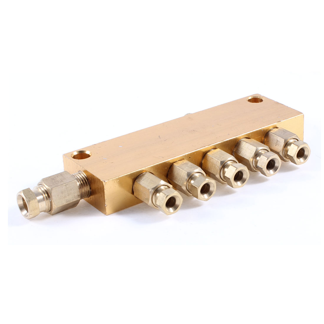 Air Pneumatic Brass Adjustable 5 Ways Oil Distributor Regulating Manifold Block