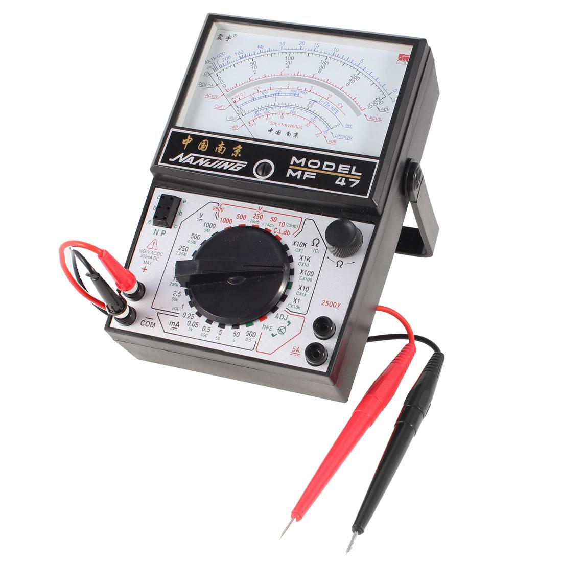 AC DC Voltmeter Ammeter Ohmmeter Capacitance MF47 Meter Multimeter