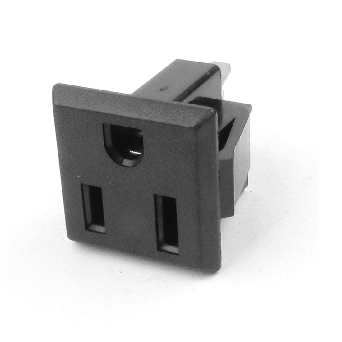 Rectangle Shape US 3 Terminals Socket Plug Power Socket Adapter AC 125V 15A