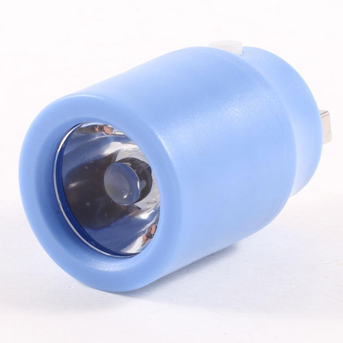 Handy Computer Laptop White Light Plastic USB Port LED Light Lamp Blue