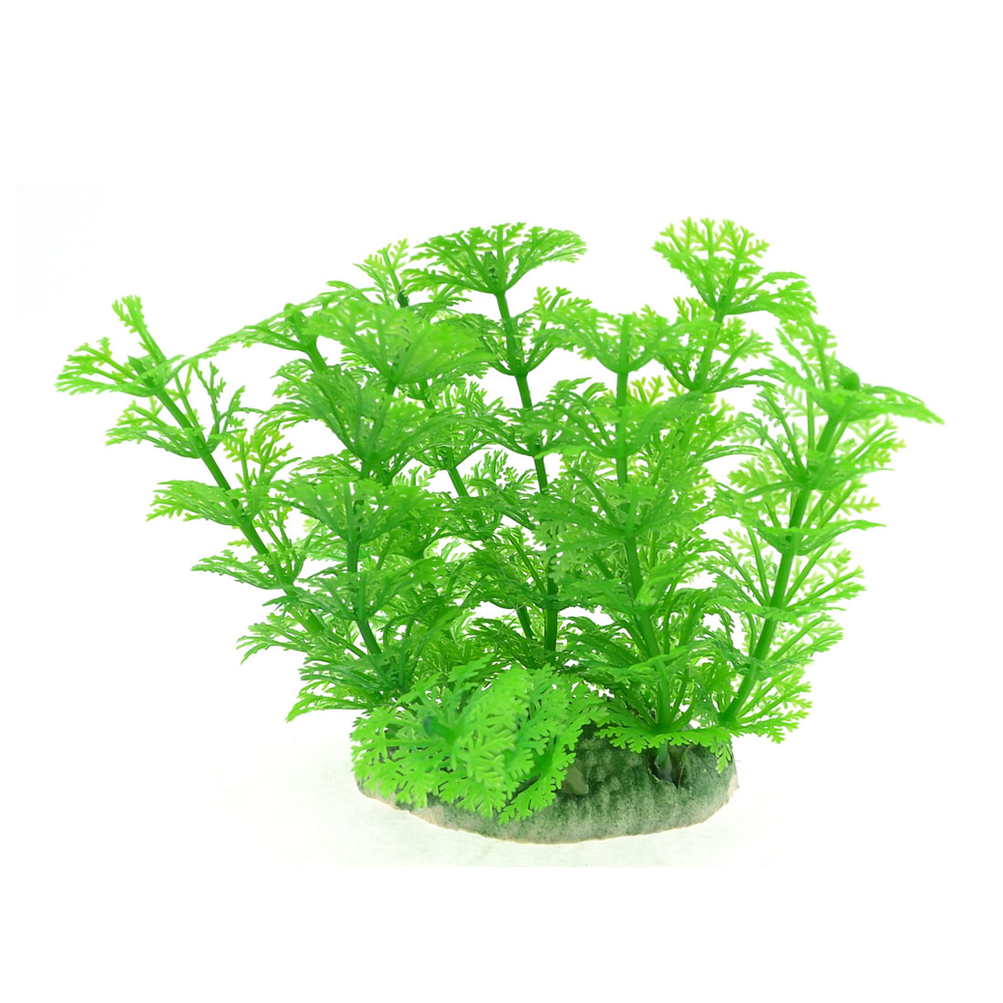 10cm Height Green Snow Flower Shaped Artificial Aquarium Decor Grass Plant