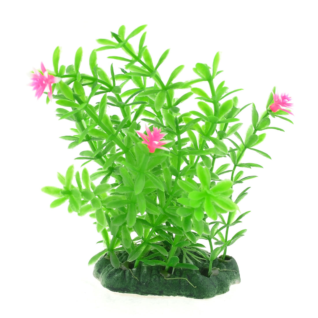 "Fish Tank Aquarium Decor Green Emulational Plastic Grass 4.3"" Height for Fish"