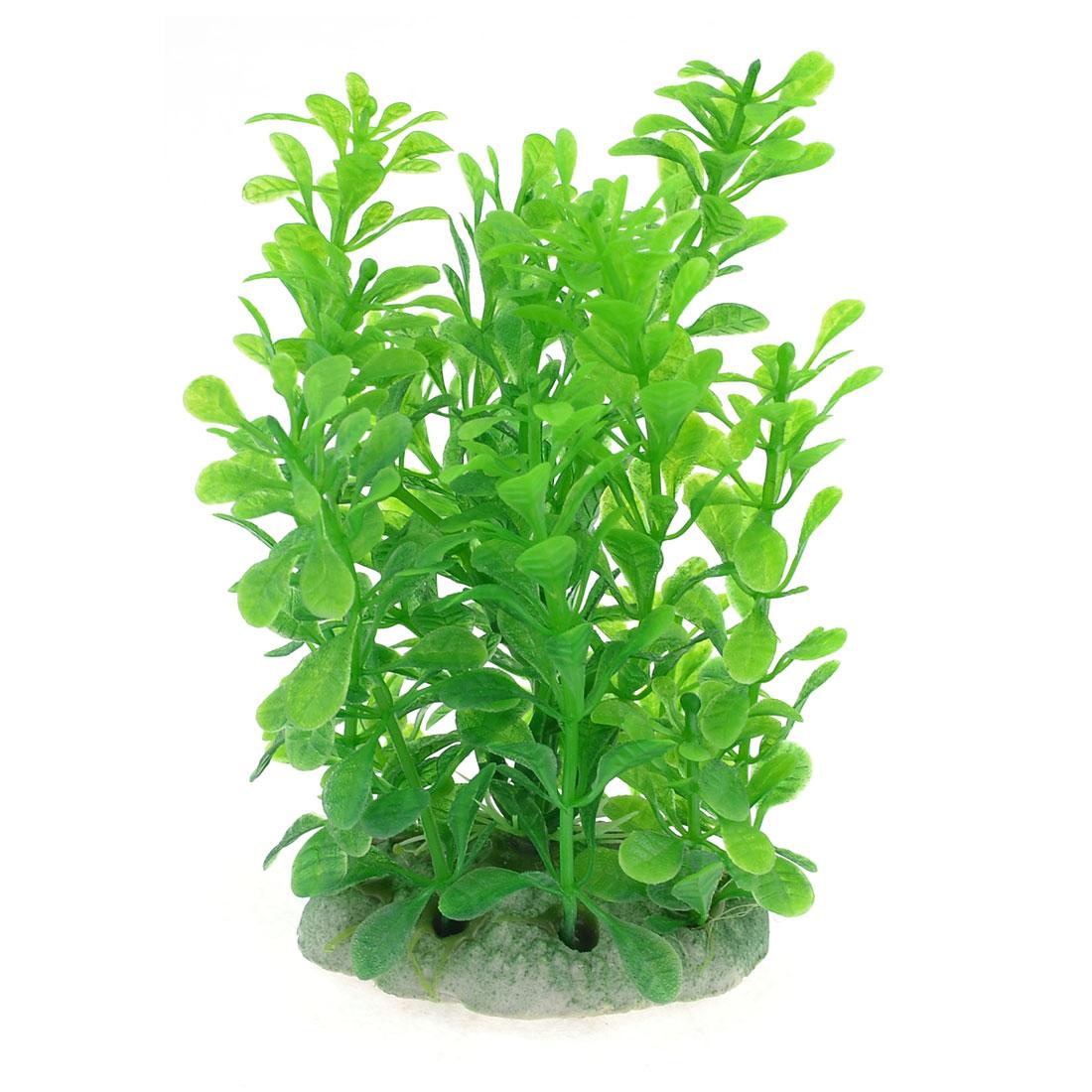 """5.1"""" Height Green Artificial Manmade Aquarium Decor Plastic Grass Plant"""