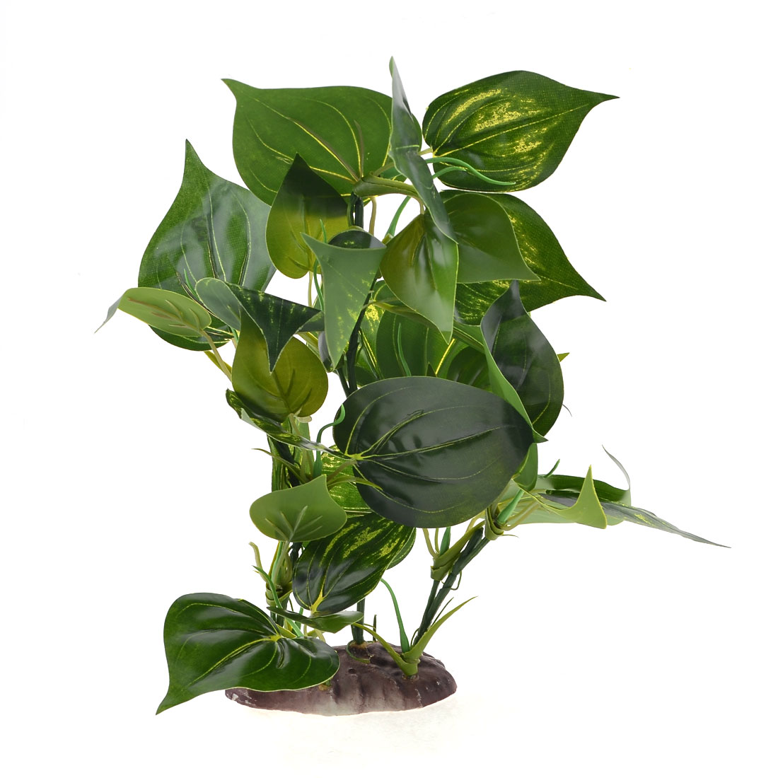 "12.6"" High Green Leaf Artificial Underwater Grass Decor for Fish Tank"