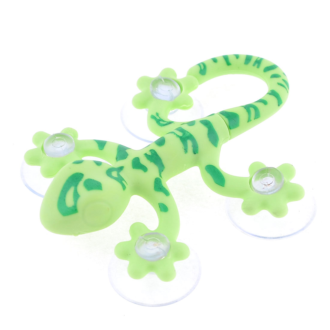 Green Plastic Gecko Design Towel Hanging Suction Cup Wall Hook