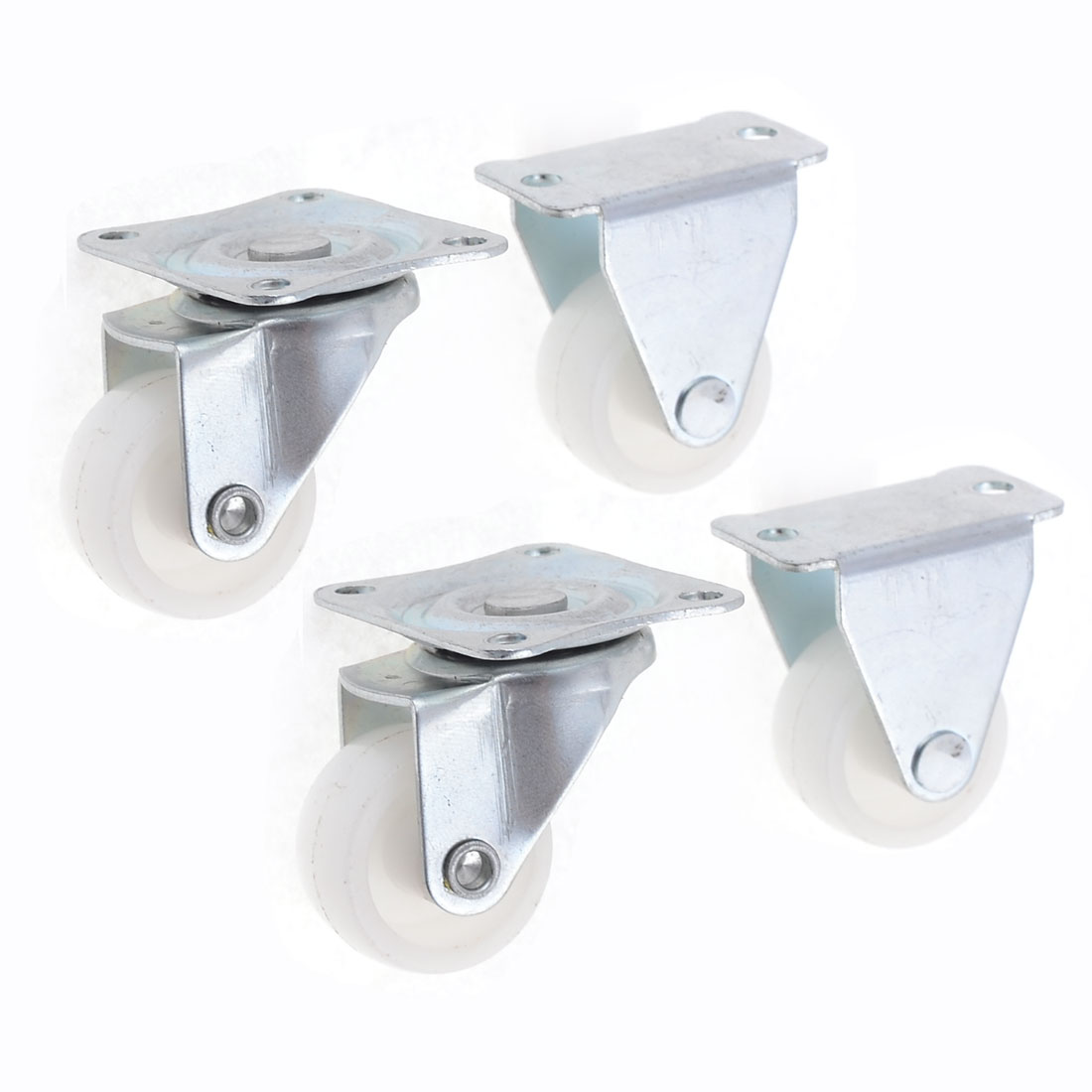 4 Pcs Rectangular Mounted Top Plate 25mm Plastic Directional Wheel Casters