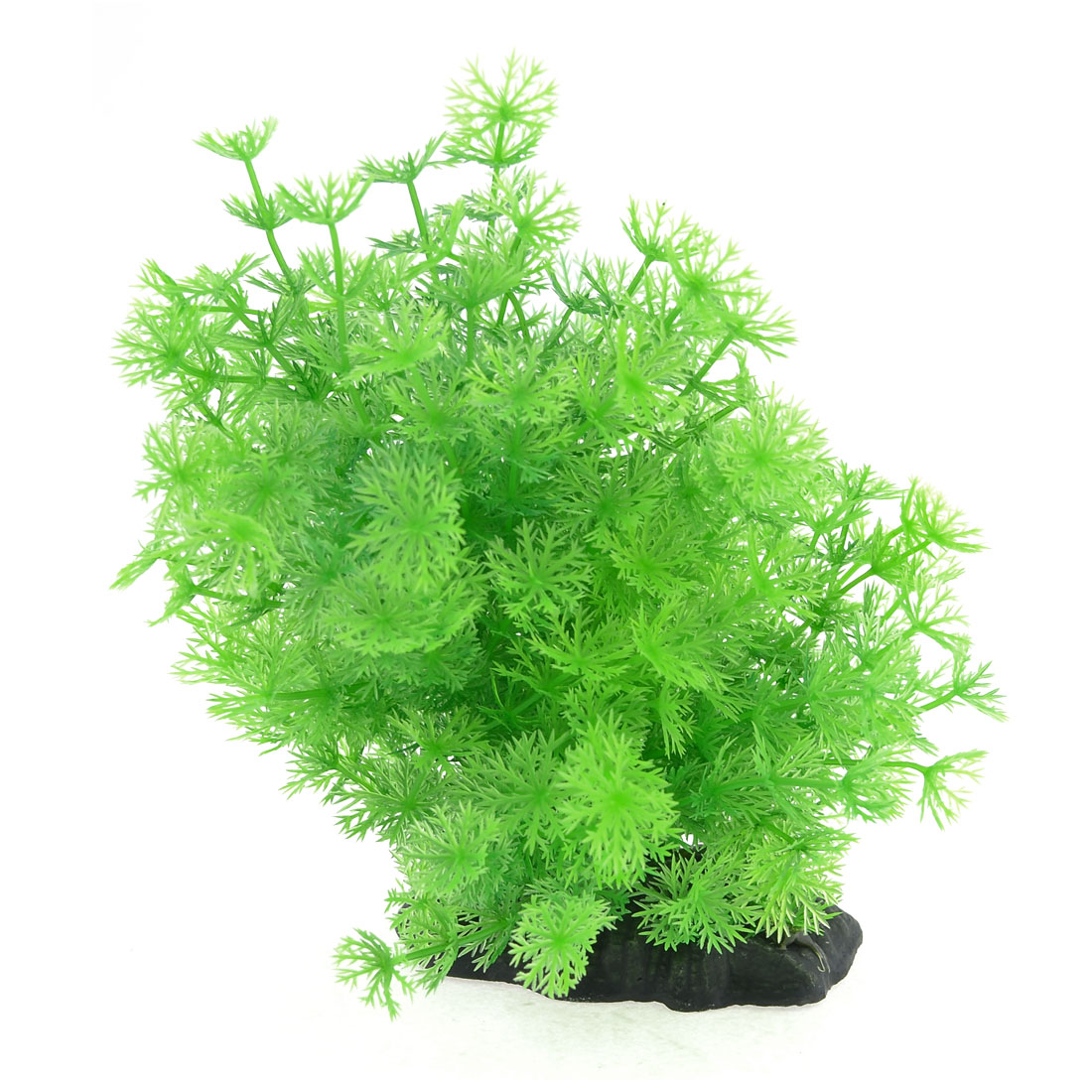 "Fish Tank Aquarium Ornament Decor Green Emulational Plastic Grass 6.3"" Height"