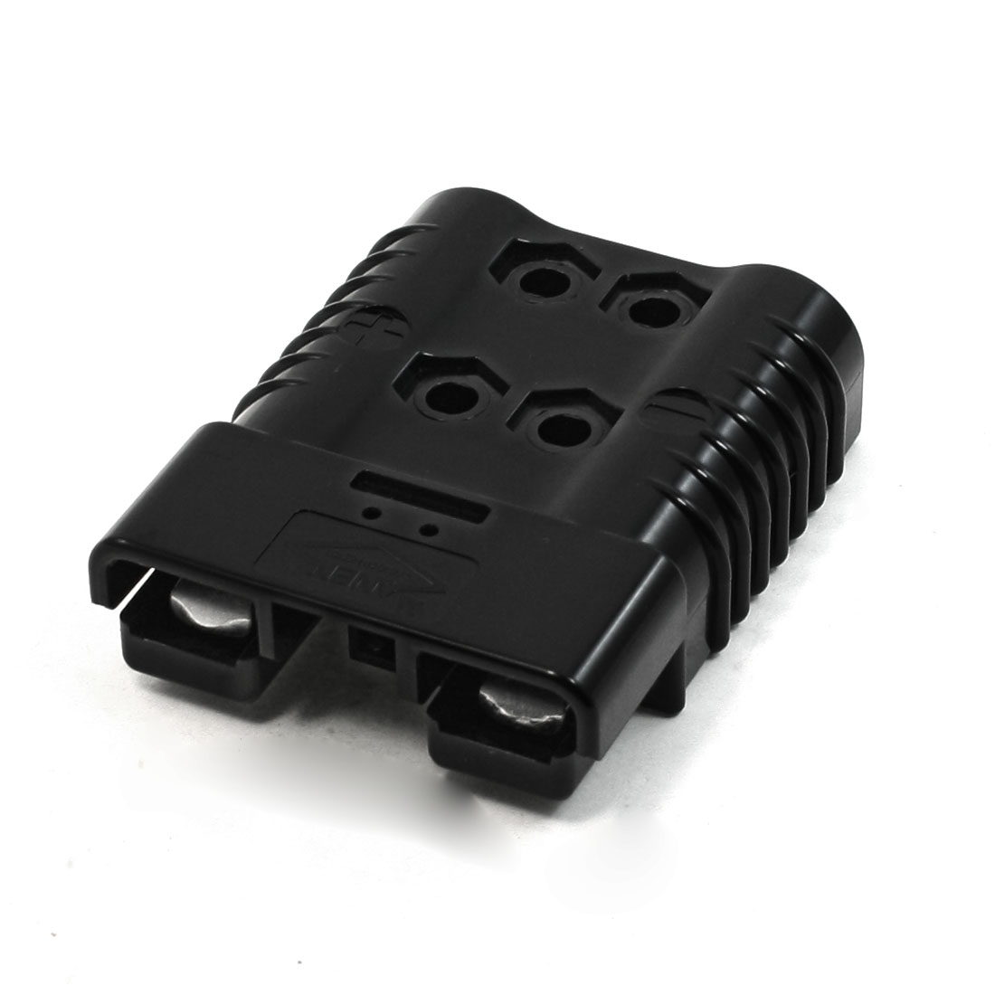 Black Plastic Housing Aluminum Plated Battery Connector 600VDC