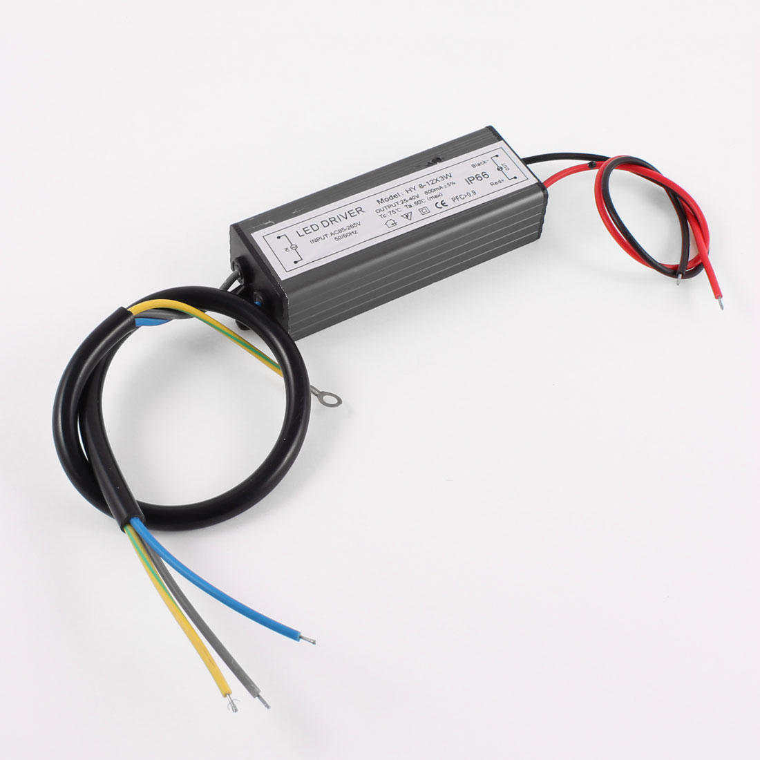 AC 85-265V 25-40V 600mA Waterproof Power Supply Driver for 8-12X3W LED Light