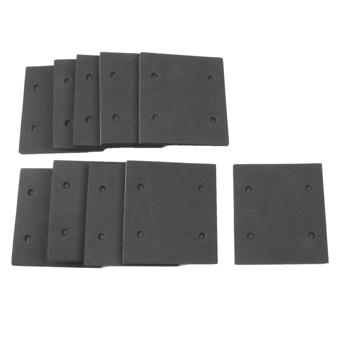 10 Pcs Gray Foam Self Adhesive Sander Back Pad Mat for Makita 4510