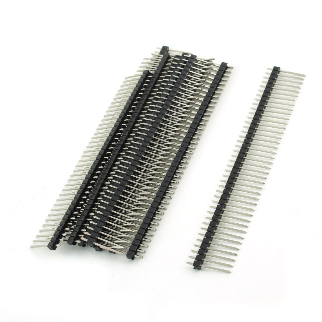10 Pcs 2 x 40 Pin 2mm Pitch Single Row PCB Straight Pin Headers