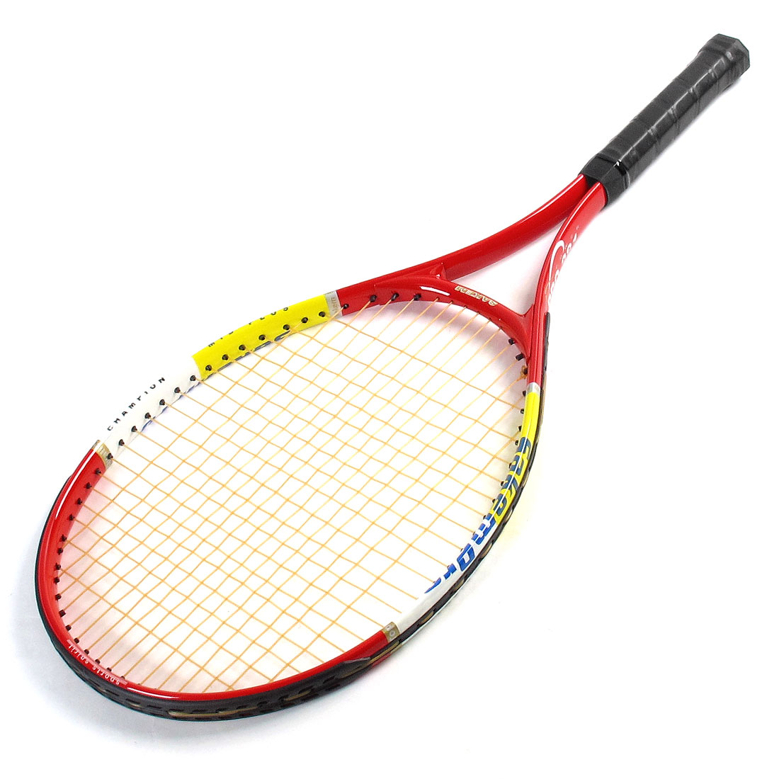 Red Black Yellow Aluminum Alloy 19 x 16 Tennis Racket Racquet