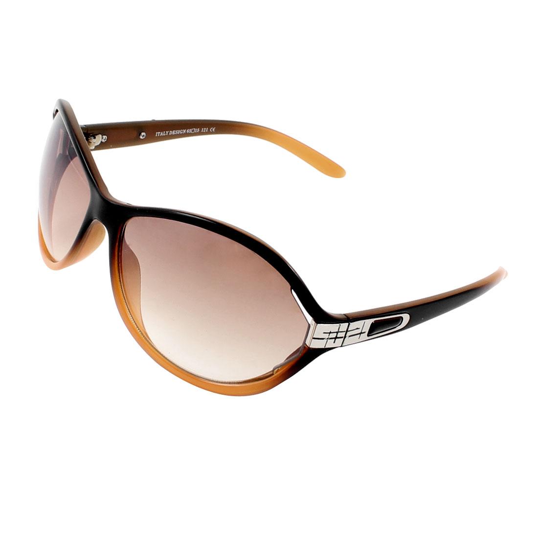 Single Bridge Brown Water Drop Shaped Lens Outdoor Eyewear Sunglasses for Ladies