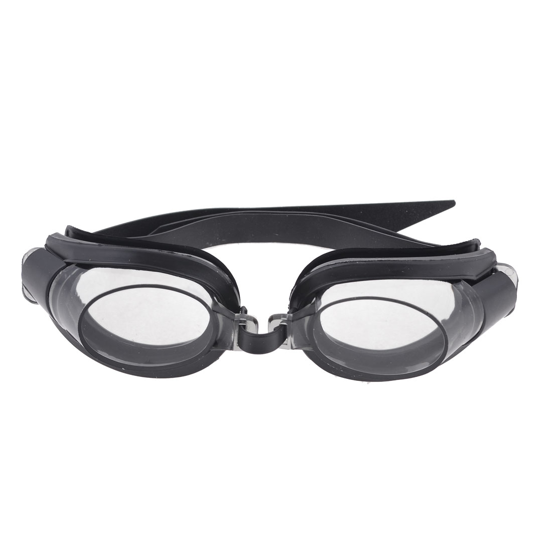 Children Plastic Frame Elastic Strap Swimming Goggles Spectacles Black