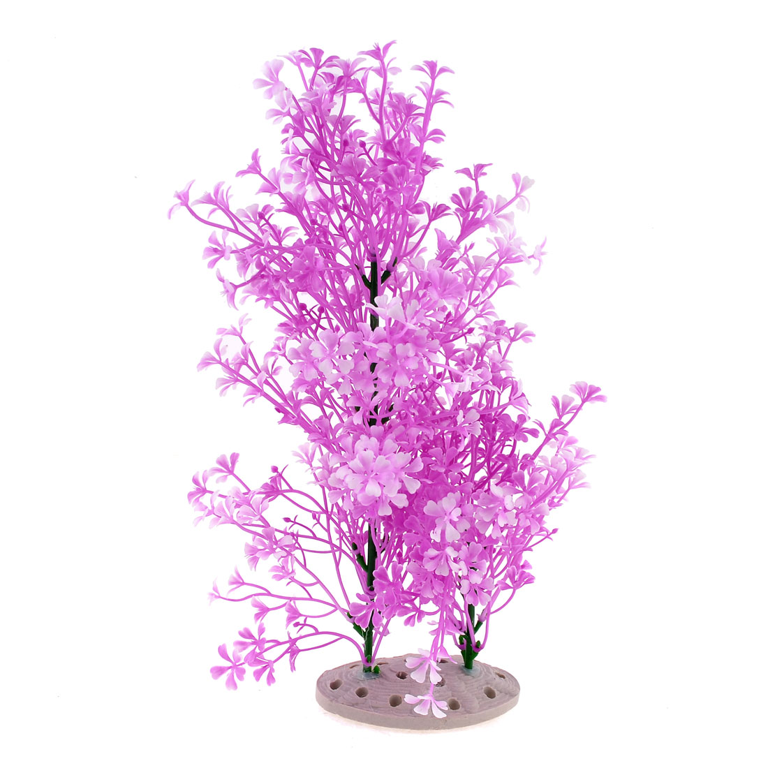 Purpel Plastic Aquarium Aquascaping Ornament Underwater Grass Flower Plant