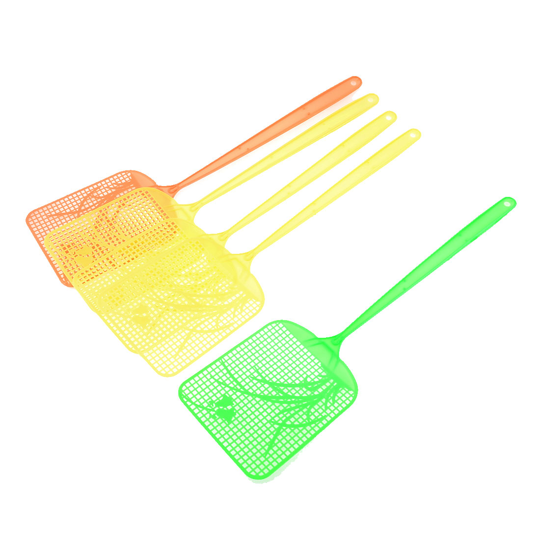 5 Pcs Tricolor Plastic Long Handle Mosquito Cockroach Tool Fly Swatter