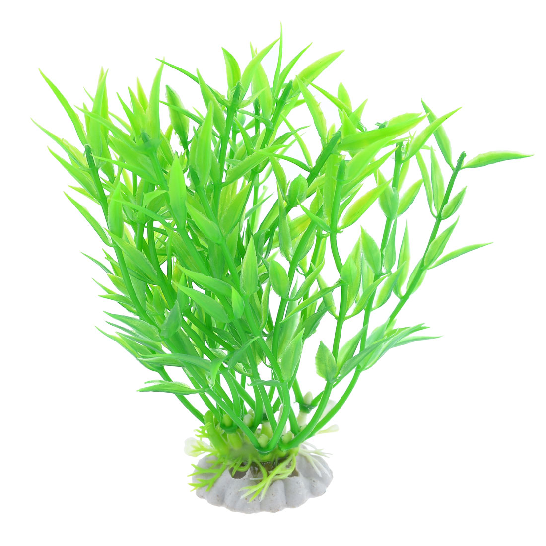 "5.1"" High Aquarium Fish Tank Ornament Green Plastic Water Plant Grass"
