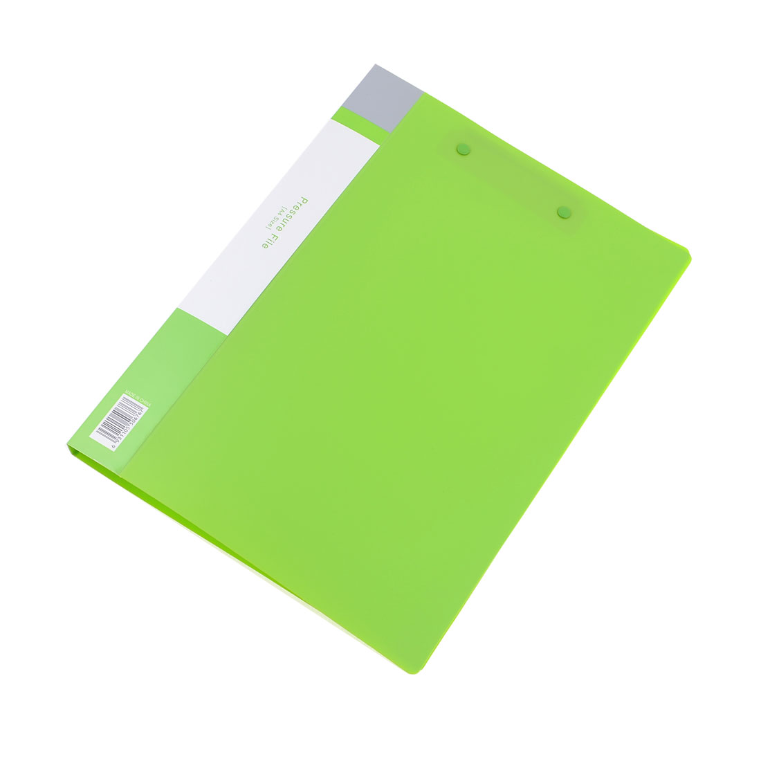 Green Plastic Shell Dual Clips A4 Paper Reports Documents Folder