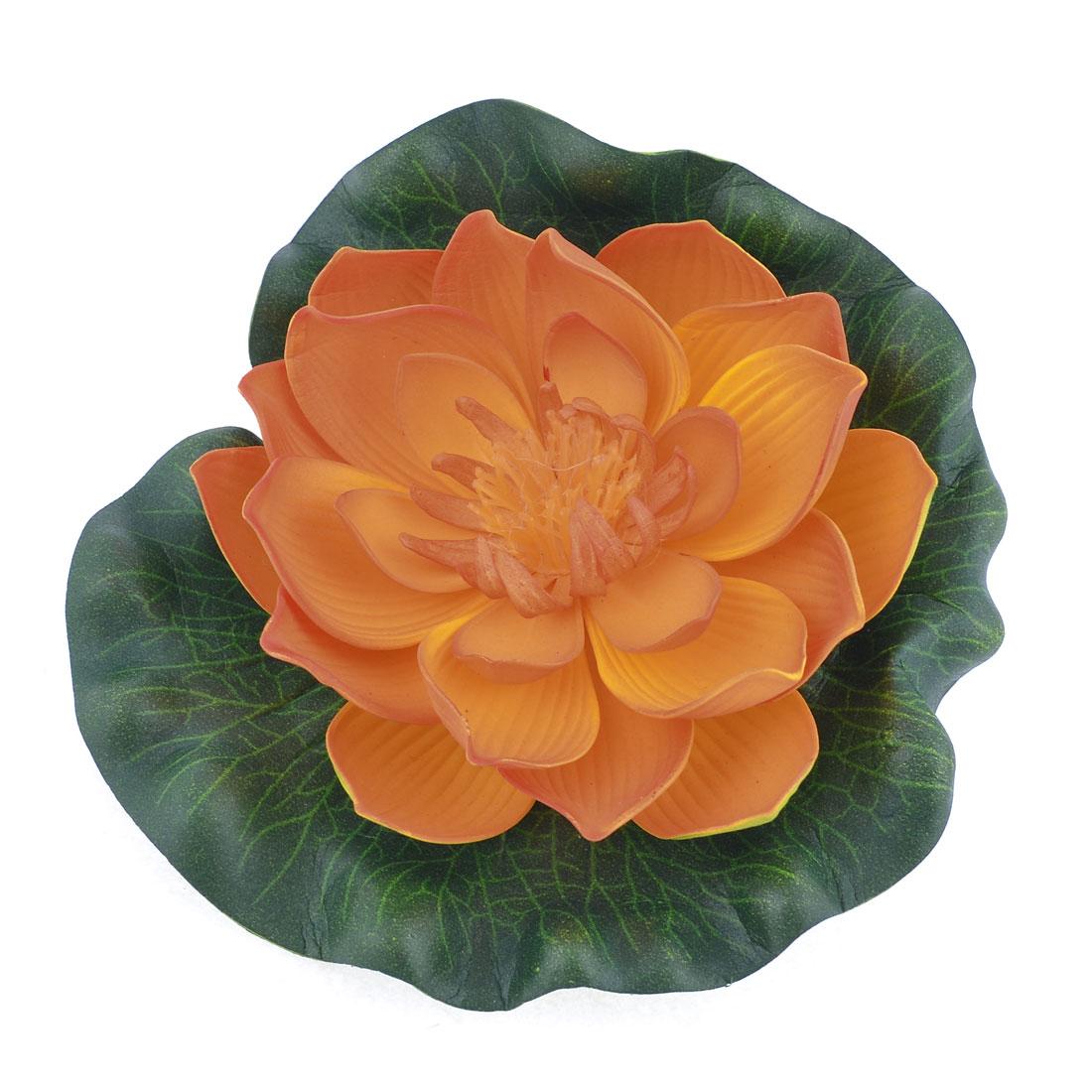 Aquarium Landscaping Green Leaf Yellow Foam Lotus Flower Decoration