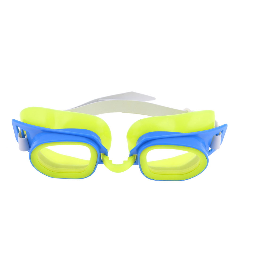 Children Plastic Frame Elastic Strap Swimming Goggles Spectacles Blue Yellow