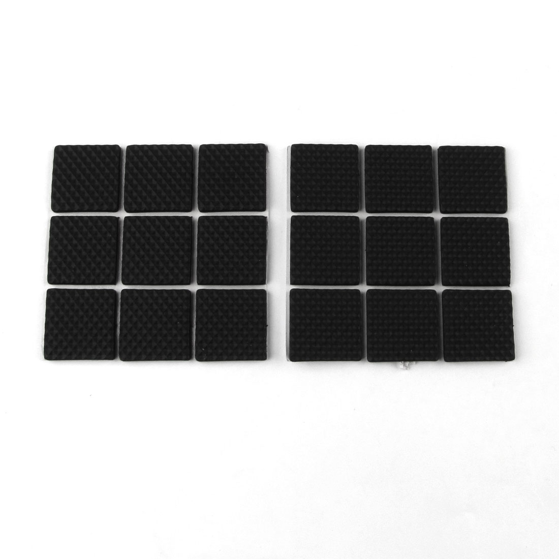 18 Pcs Self Adhesive Black Square Foam Table Chair Leg Mat Pad Protector