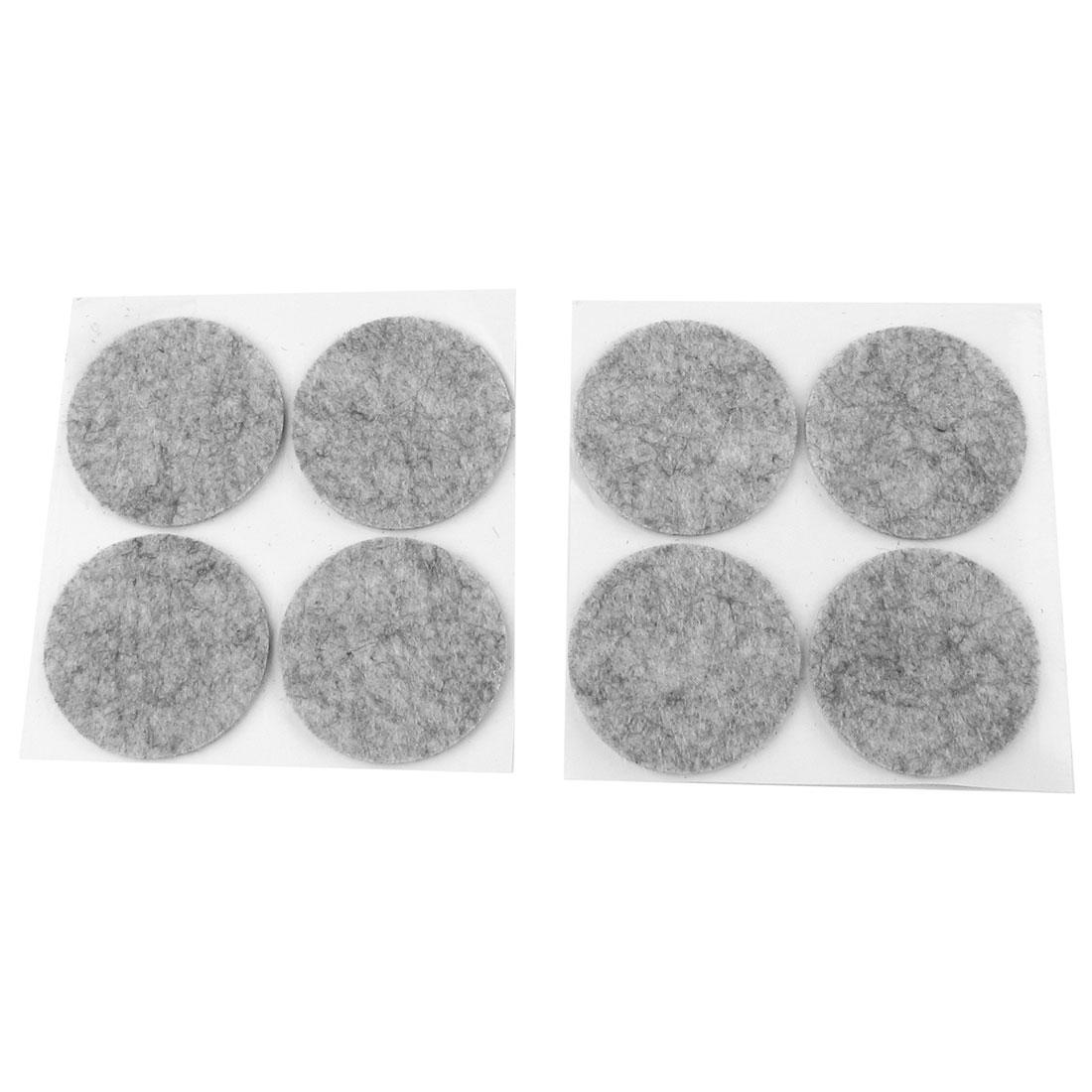 "8pcs Gray Adhesive Desk Table Leg PC Bottom Round 1.6"" Mat Pad"