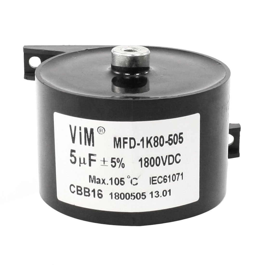 CBB16 DC 1800V 5uF 5% Machine Plastic Housing Motor Capacitor