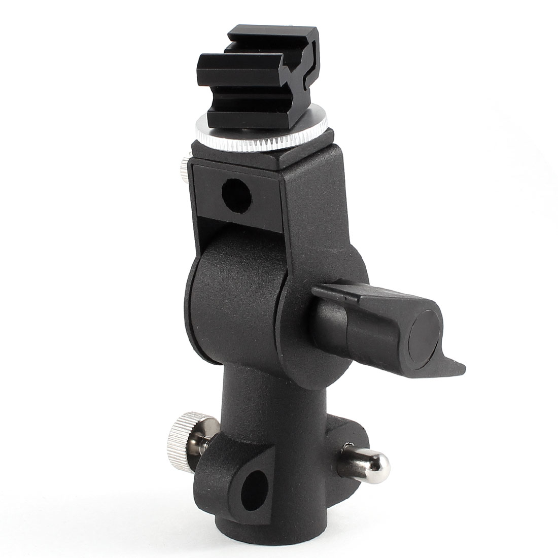 D-Type Swivel Flash Hot Shoe Bracket Tripod Umbrella Holder Light Stand Adapter