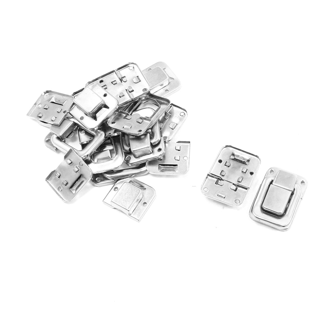 "10 Pcs 1.4"" Silver Tone Stainless Steel Toggle Latch Catches for Suitcase"