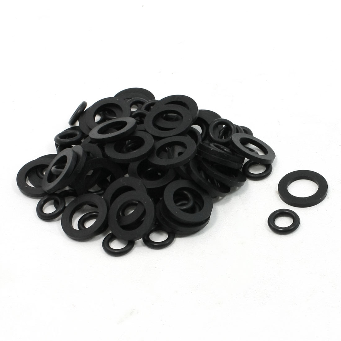 100 Pcs 12mm Outside Diameter Rubber Washers O Ring Oil Seal Gaskets Set