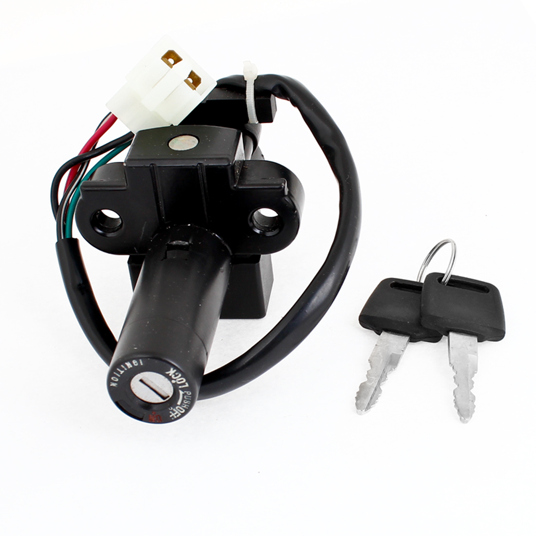 Motorbike Black Plastic On-Off Type Lock Ignition Switch for Honda