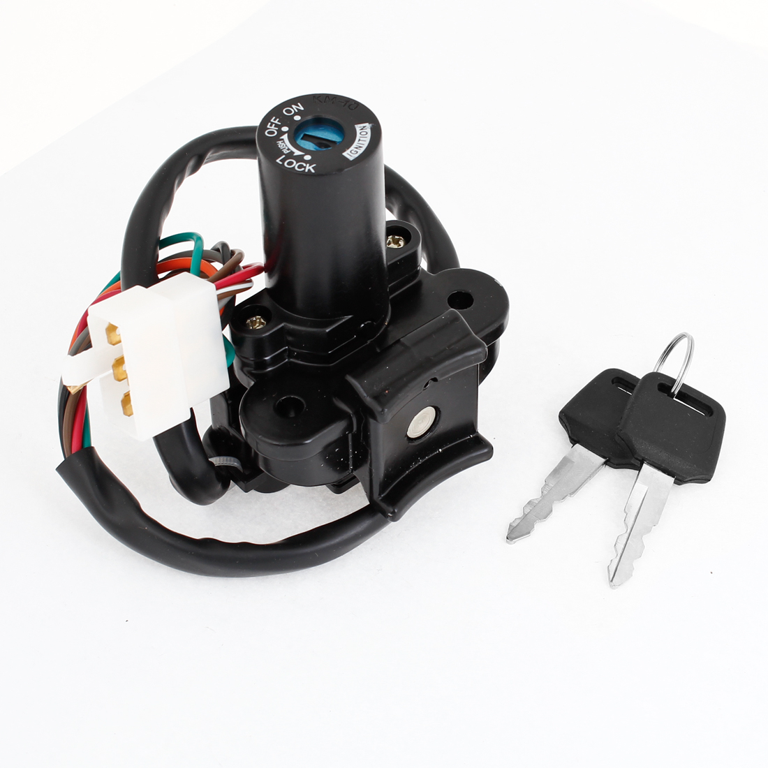 Motorbike Black Plastic On-Off Type Lock Ignition Switch for Kawasaki