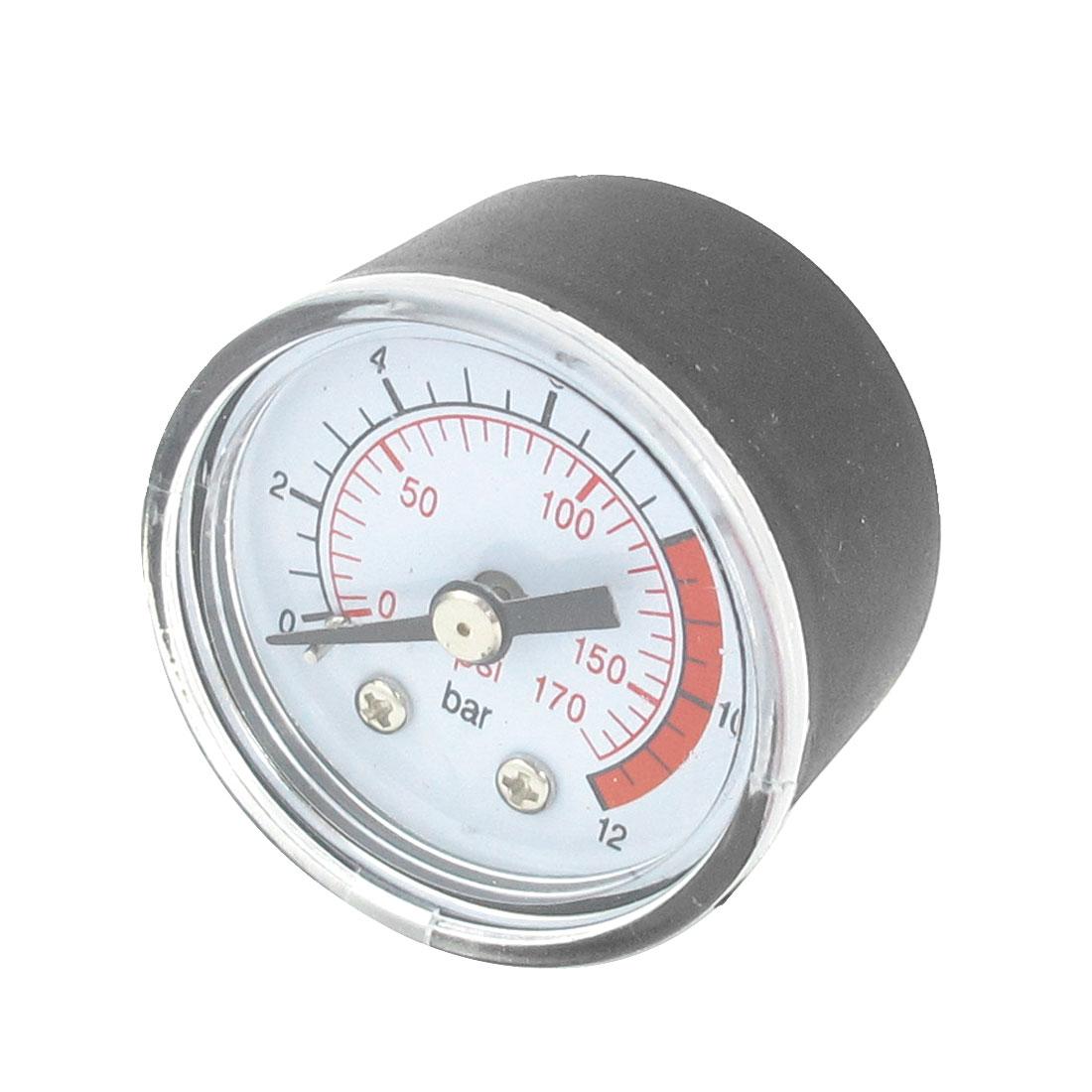 Air Compressor 1/8 PT Male Thread 0-170PSI Pressure Gauge Black