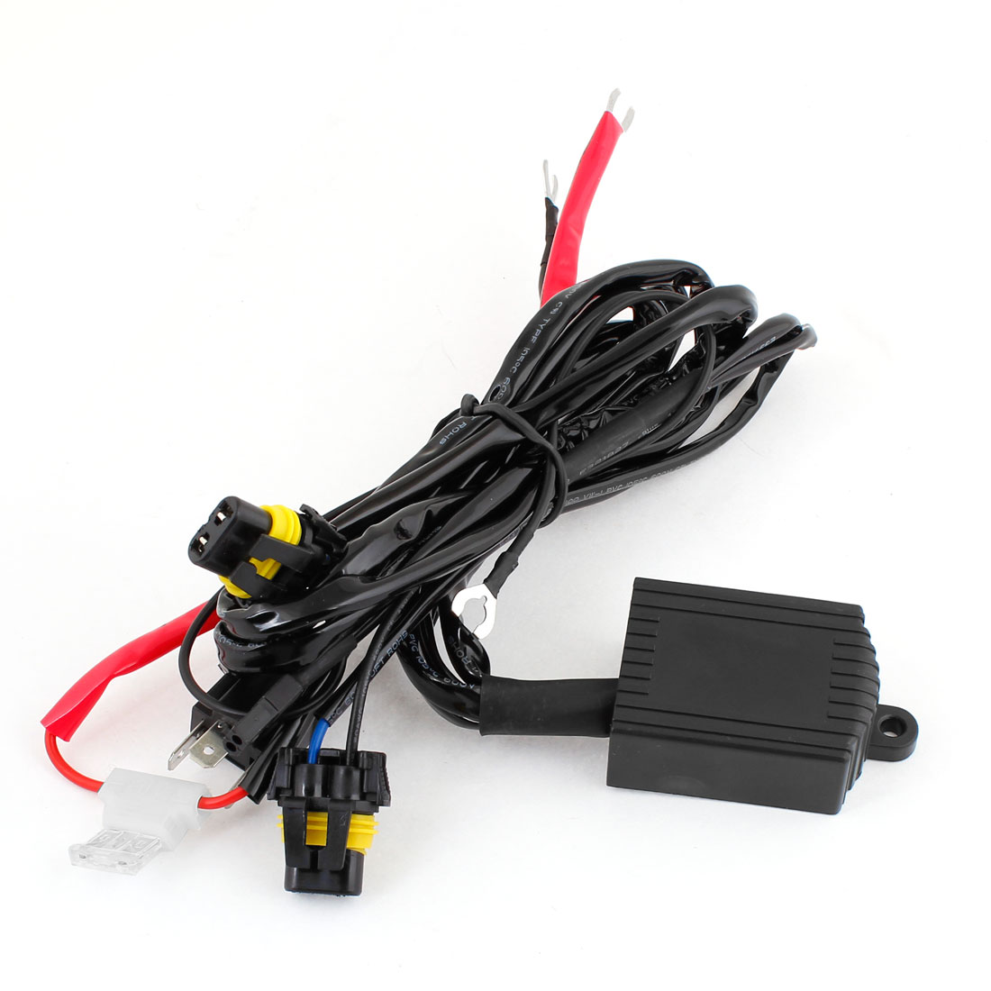 35W/55W DC 12V HID 9004/H4 Hi/Lo Controller Relay Wiring Harness