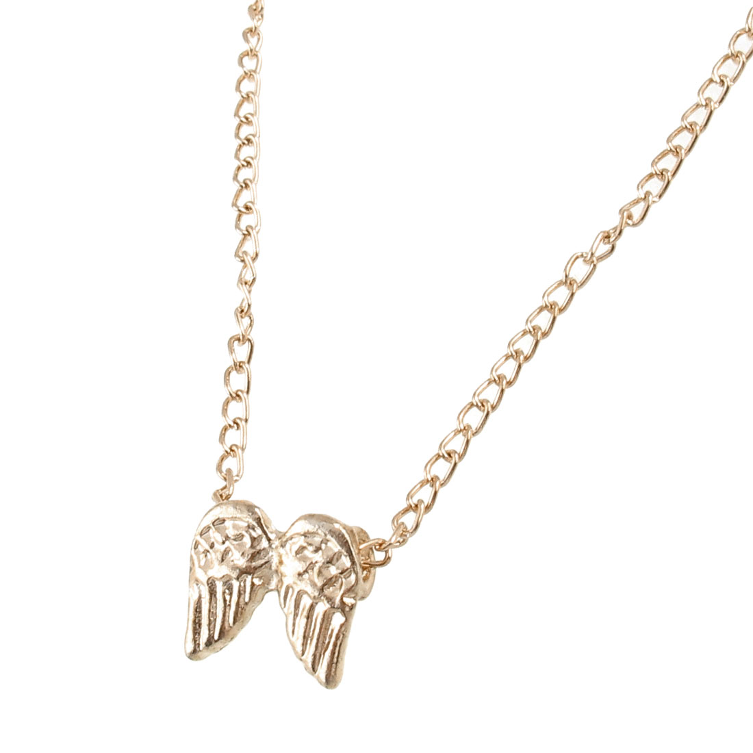 Flying Wing Shaped Pendant Necklace Gold Tone for Ladies