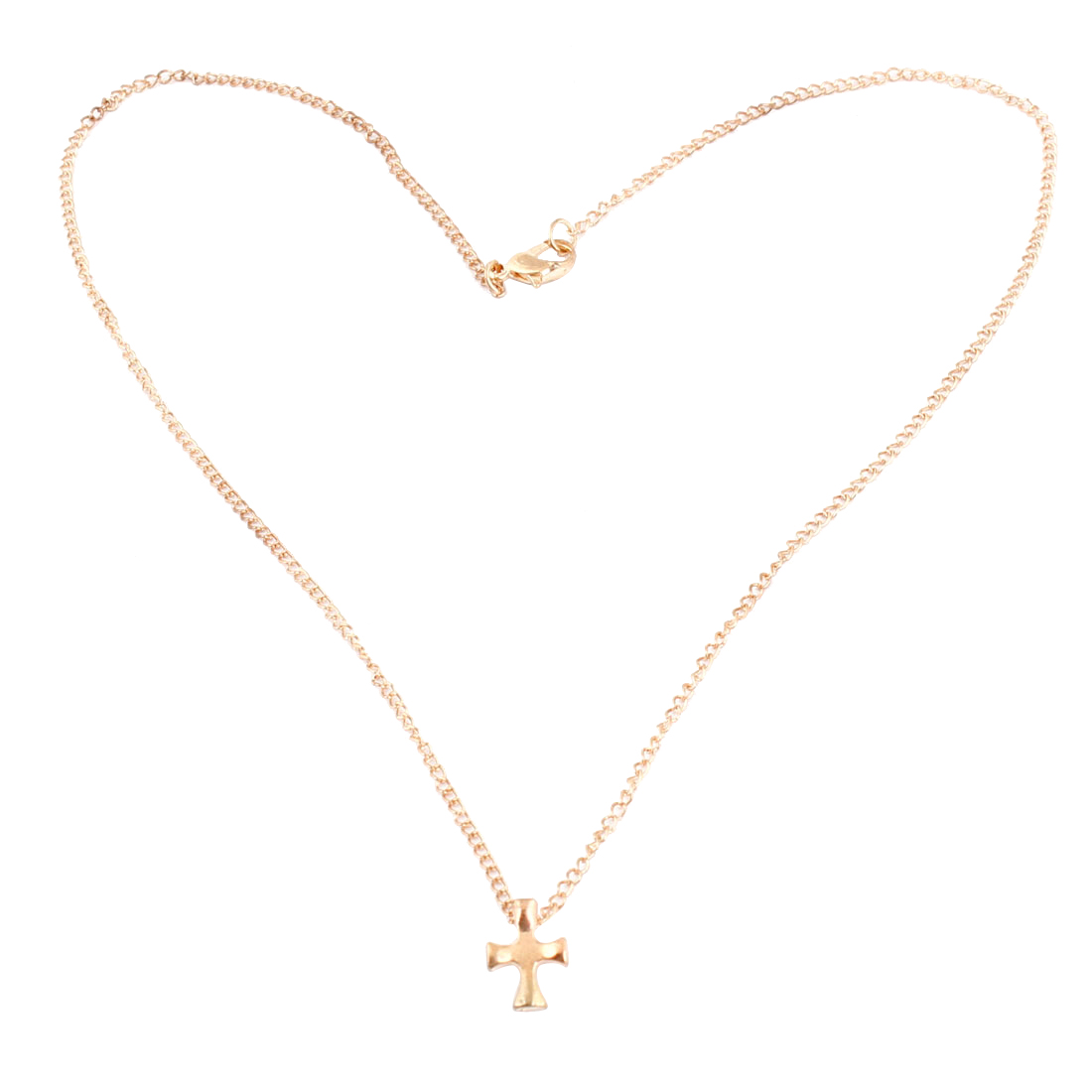 Gold Tone Alloy Cross Pendant Necklace for Ladies